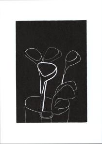 Golfecke, 2009, Linoldruck, Blattmaße 43,1 x 30,4 cm