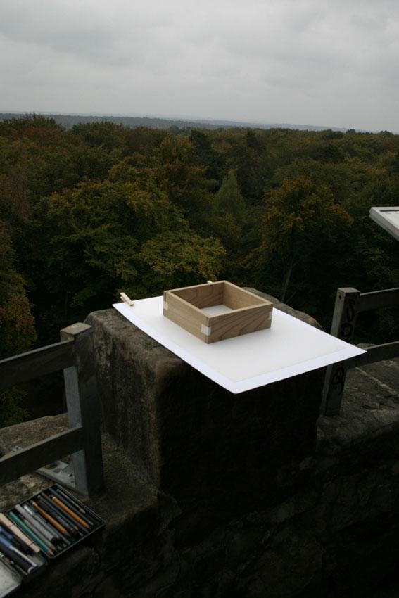 Arbeitsplatz auf dem Humbergturm